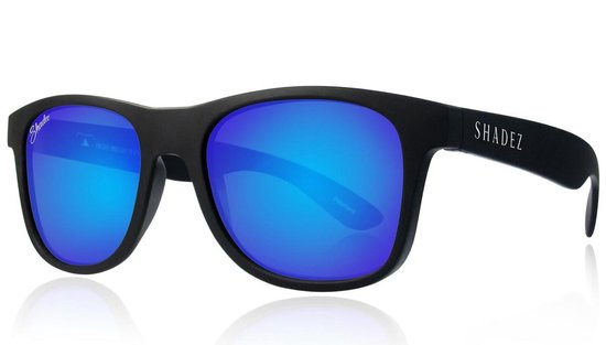 Polariserende Zonnebril - Unisex - Shadez Polarized - Zwart/Blauw 16+ jr