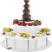 Royal Catering Chocoadefontein set - 4 verdiepingen - 6 kg plus lichttafel
