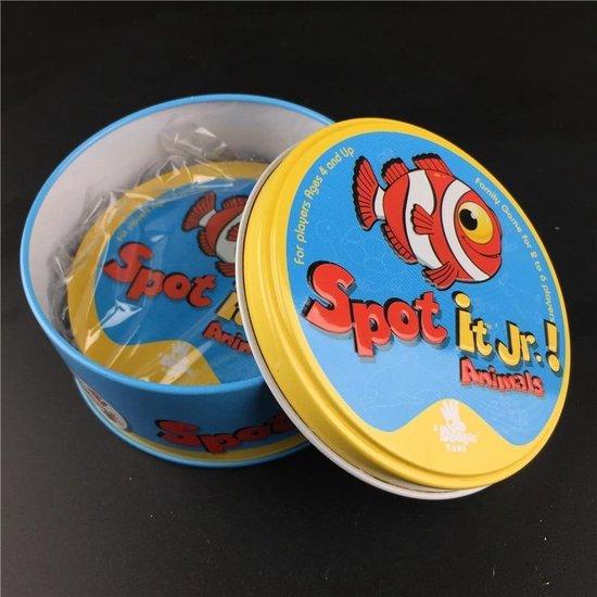 Thumbnail van een extra afbeelding van het spel Spot it vakantie dobbel kaarten kind engels spel - 1 stuks rondom zak [box (hiphop)]