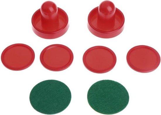Afbeelding van het spel 1 set / 8 stks air hockey accessoires-goalies puck vilt duwhamer, volwassen tafelspellen - 76 [60]