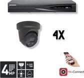 Hikvision 4x DS-2CD2345FWD-I (zwart) + NVR + 1Tb HDD