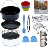 Excluzivo® Heteluchtfriteuse accessoires – Airfryer Accessoires – 14-delige set – Incl. Kookboek – Geschikt voor XL en XXL Heteluchtfriteuses