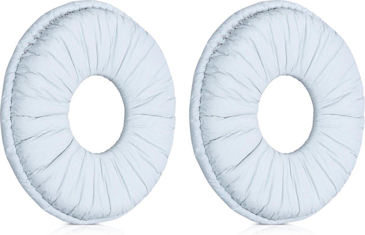 kwmobile 2x oorkussens voor Sony MDR-ZX110 / MDR-ZX310 koptelefoons - imitatieleer - voor over-ear-koptelefoon - grijs