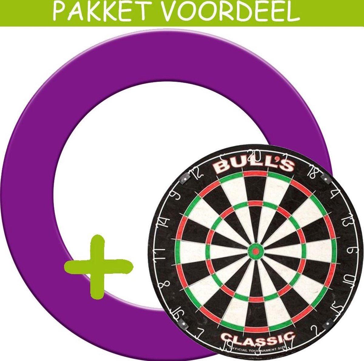 Dartbord Surround VoordeelPakket - Bulls Classic - Rubberen Surround-- (Paars)