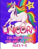 Unicorn Coloring Book for Girls & Boys ages 4-8