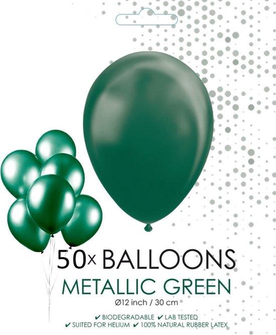 Globos Ballonnen 30,5 Cm Latex Groen Metallic 50 Stuks