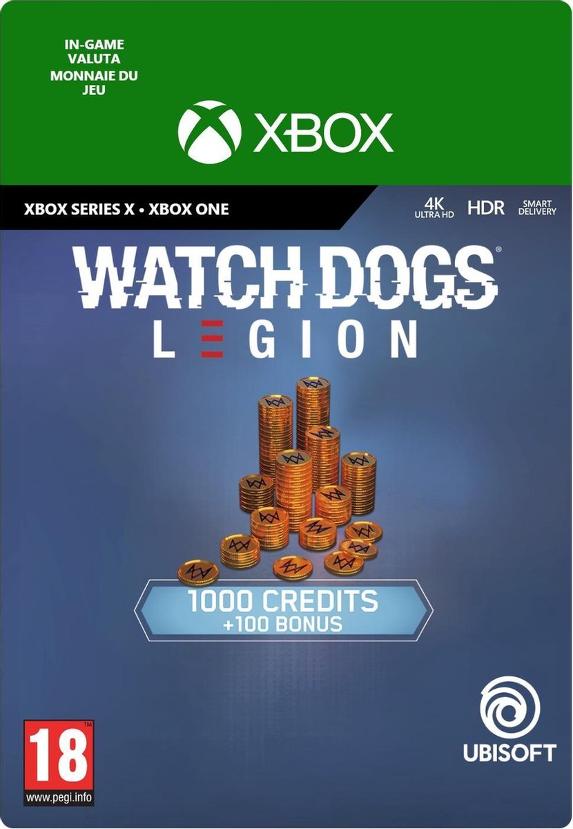 Watch Dogs Legion 1.100 WD Credits - In-game tegoed - Xbox One/Xbox Series X/S