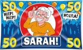 Paperdreams - Vlag - Sarah, 50 jaar - 150x90cm