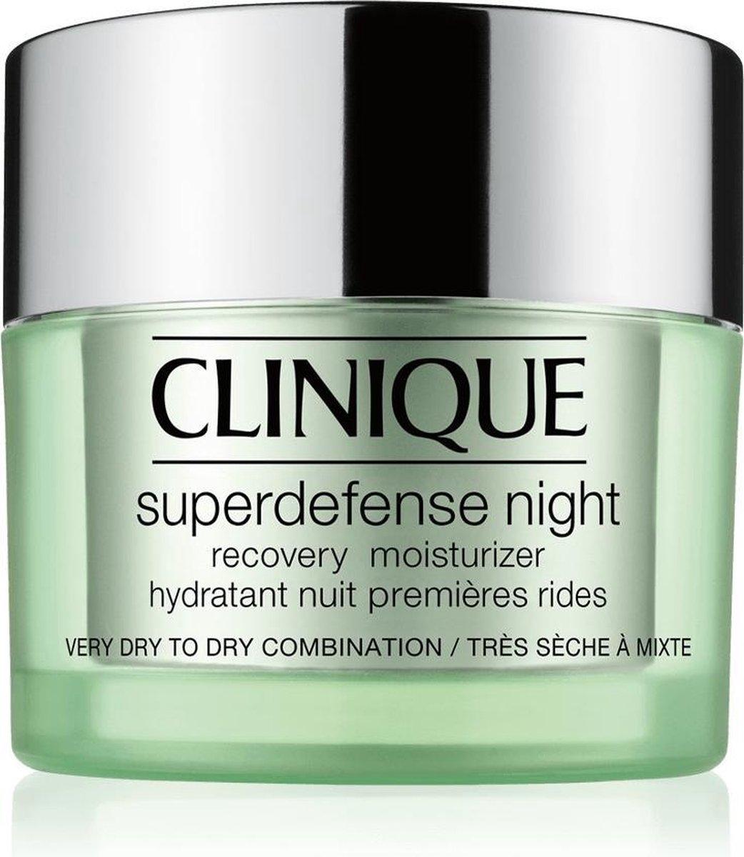 Clinique Superdefense Night Recovery Moisturizer Nachtcr me Droge huid - 50 ml