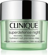 Clinique Superdefense Night Recovery Moisturizer Nachtcrème Droge huid - 50 ml