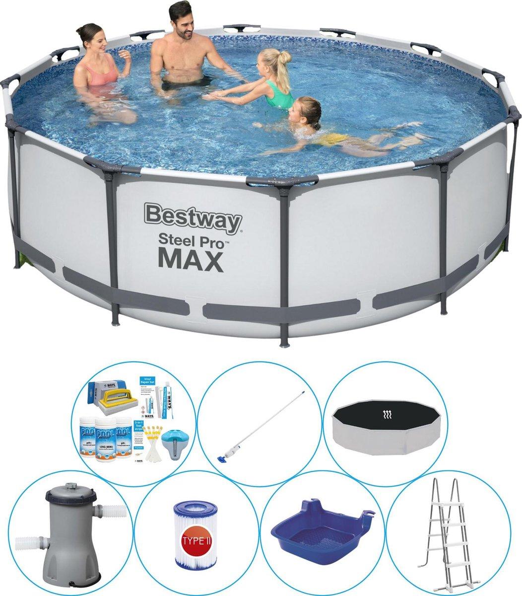 Zwembad Combinatie Deal - Bestway Steel Pro MAX Rond 366x100 cm