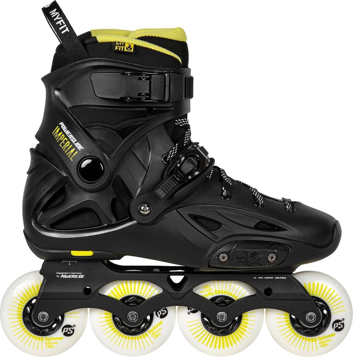 Powerslide Urban Imperial Skates Inlineskates - Maat 45/46 - Unisex - zwart/geel