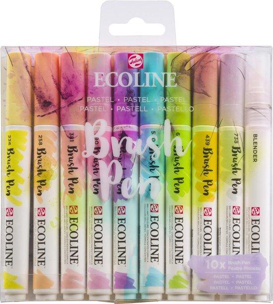 Afbeelding van Talens Ecoline Brush Pen - 10 stuks - Pastel - Brushpen