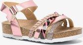 Roze meisjes bio sandalen met glitters - Roze - Maat 26