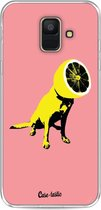 Samsung Galaxy A6 (2018) hoesje Lemon Dog Casetastic Smartphone Hoesje softcover case