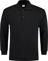 Tricorp casual Polo/Sweater boord - 301005 - Zwart - maat L