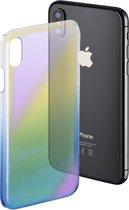 """Hama Cover """" Mirror"""" voor Apple iPhone X, geel/blauw"""