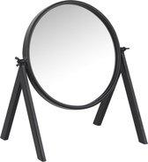 Dulaire Make Up Spiegel Modern Zwart Rond