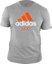 adidas Community T-Shirt Grijs/Oranje Judo Maat 152