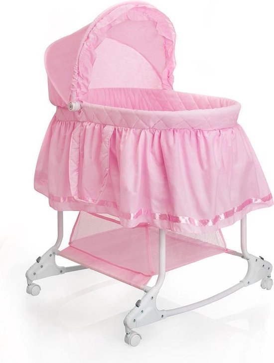 Product: Little World Wieg Met Schommelfunctie Roze, van het merk Little World