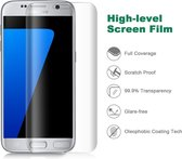 DrPhone Samsung S7 Glas 4D Volledige Glazen Dekking Full coverage Curved Edge Frame Tempered glass Transparant -