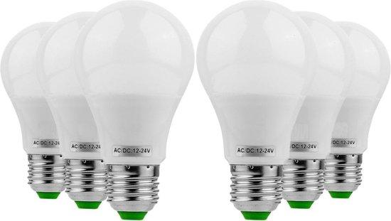 Bol Com Ywxlight 6pcs E27 5w Ac Dc 12 24v 10leds 5730smd Led Lamp Warm Wit