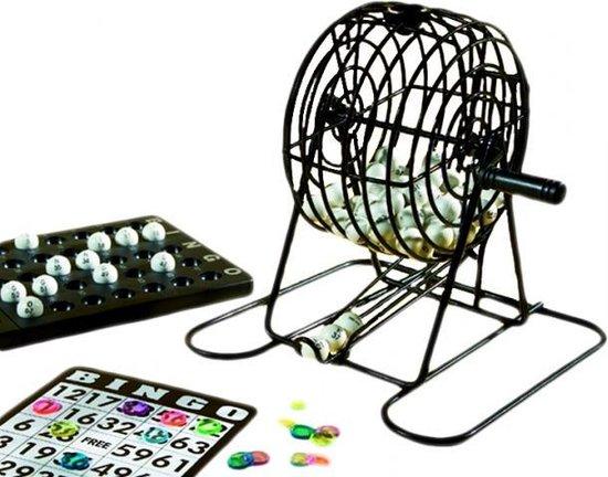 Afbeelding van het spel stalen bingomolen set 13,5 cm zwart