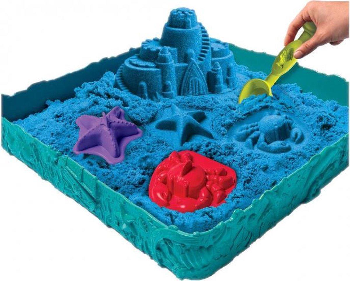 speelzandbak junior 28 x 28 x 6 cm blauw 6-delig
