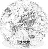 Wandcirkel - Kunststof - Stadskaart Roermond - ⌀ 140 cm