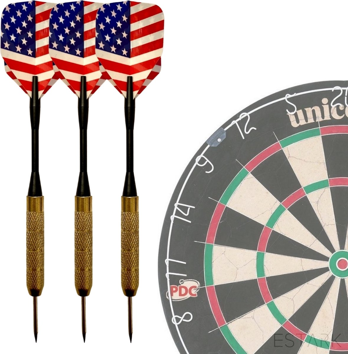 USAdarts - 3 Stevige Complete Dartpijlen - Darts Accessoires - Dartset - Dartpijlen - Darts Pijlen - Darts Flights - Darten - PROFESSIONEEL - 3 Pijlen