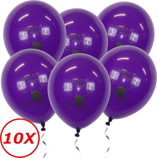 Halloween Versiering Decoratie Helium Ballonnen Feest Versiering Halloween Accessoires Ballon Paars Heks – 10 Stuks