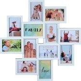 Fotolijst - Henzo - Friends Gallery - Collagelijst voor 12 foto's - Fotomaat 10x15 cm - Wit