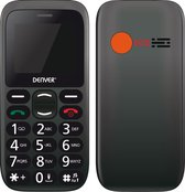 Denver BAS-18300M - GSM - Senioren mobiele telefoon - 2G - SOS knop - Oplaadstation - Simlock vrij
