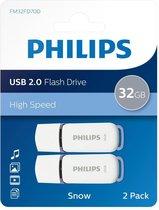 Philips FM32FD70D - USB 2.0 32GB - Snow - Grijs - 2 stuks