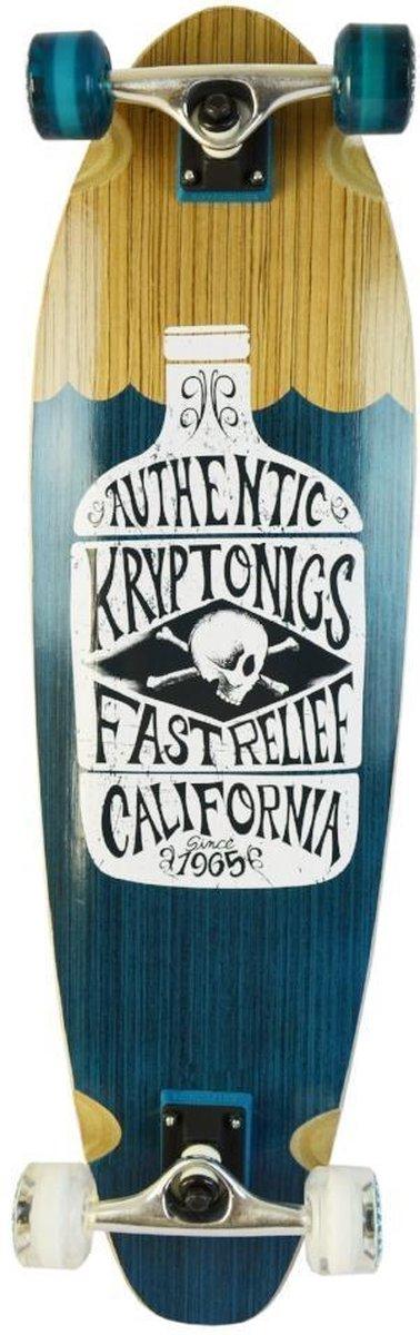 Kryptonics Longboard Bottle 84 X 24 Cm Bruin/blauw