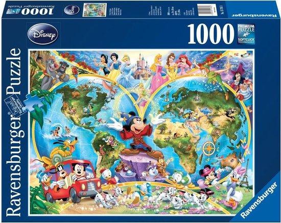 Ravensburger puzzel Disney's Wereldkaart - Legpuzzel - 1000 stukjes - Ravensburger