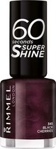Rimmel London 60 seconds Supershine Nagellak - 345 Black Cherries - Paars