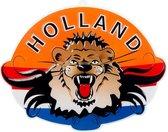 Boland - Feestdecoratie - Wanddecoratie Oranje Leeuw Holland - 65X85 Cm - EK/WK Voetbal - Koningsdag