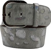 Lichte riem - Animal White/Silver  Dames riem - Broekriem Dames - Dames riem -  Dames riemen - heren riem - heren riemen - riem - riemen - Designer riem - luxe