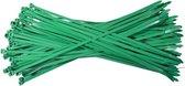 Kabelbinders 3,6 x 140 mm   -   groen   -  zak 100 stuks   -  Tiewraps   -  Binders