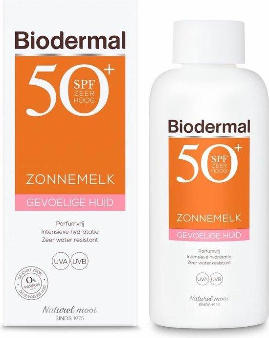 Biodermal zonnemelk gevoelige huid  - Zonnebrand voor de gevoelige huid -SPF50+ 200 ml