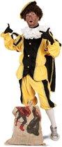 Luxe Piet pak geel maat XL/XXL + GRATIS PROFESSIONELE SCHMINK - kostuum voor buiten - pietenpak zwart goud Sinterklaas festival