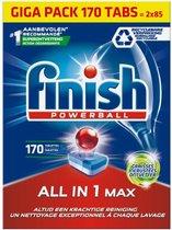 -Finish All in 1 Max Ontvetter Vaatwastabletten - Halfjaarlijkse pak - 170 Tabs-aanbieding