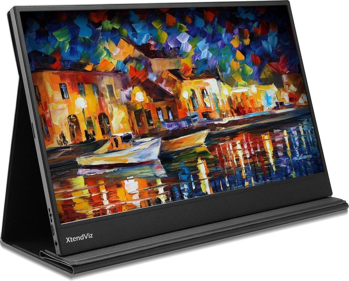 PEPPER JOBS portable monitor XtendViz XV1610F – draagbare monitor- Full HD USB-C IPS – HDMI & USB C – Samsung Dex – 15.6 Inch