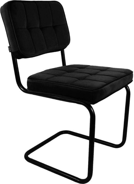 Kick buisframe stoel Ivy - Zwart