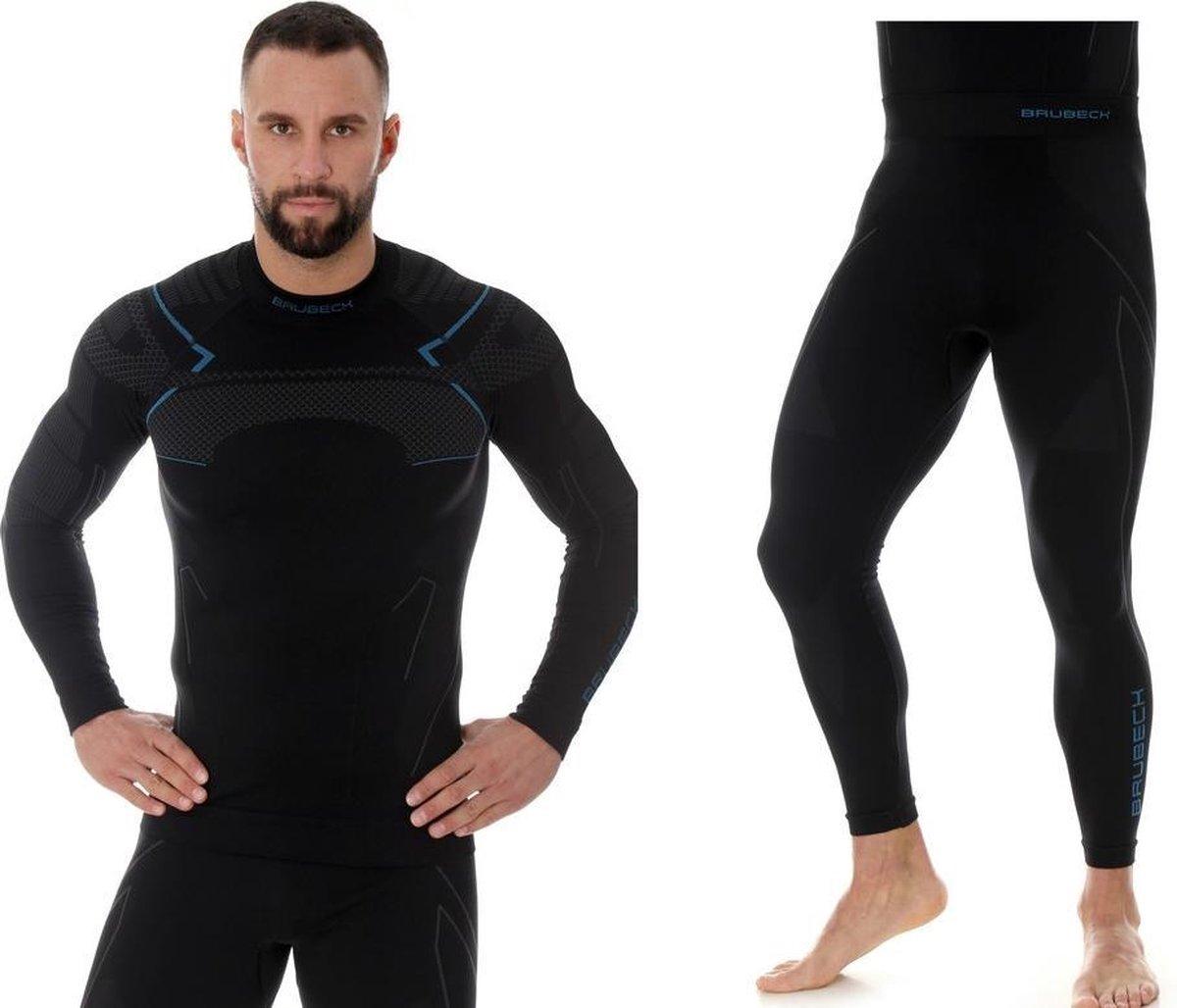 Brubeck Heren Thermokleding Set - met Nilit® Heat - Zwart/Blauw - S