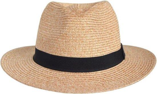 Panama Fedora UV-werende Reishoed - UPF50+ Kreukbestendig - Dames & Heren Hoed - Maat: 61cm - Kleur: Natural