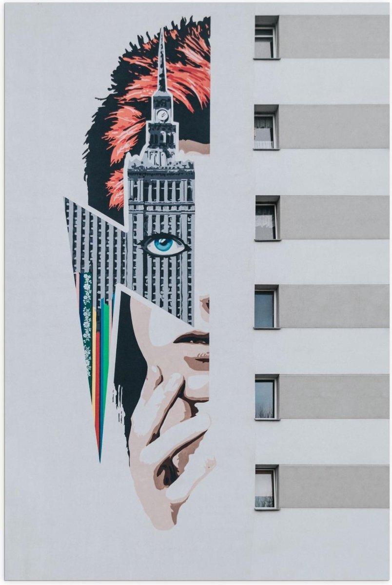Poster   Punkvrouw Afbeelding op Vrouw - 60x90cm Foto op Posterpapier