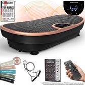 Trilplaat VP250 - 7+1 trainingsprogramma's - yoga-optie - edel design - Bluetooth luidspreker