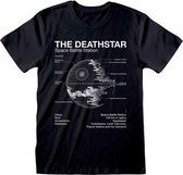 STAR WARS Death Star Sketch T-shirt - Maat M